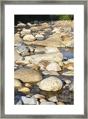 East Branch Of The Pemigewasset River - New England Framed Print