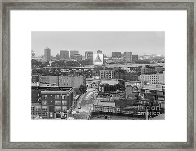 East Cambrdige Boston Skyline Aerial Citgo Sign Photo Framed Print