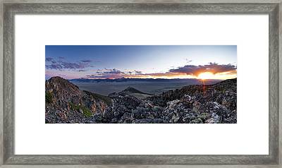 East Central Idaho Sunset Framed Print
