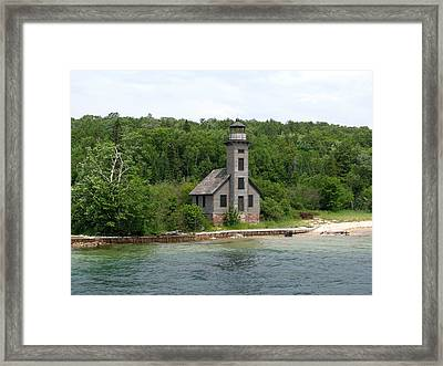East Channel Lighthouse Framed Print by Keith Stokes