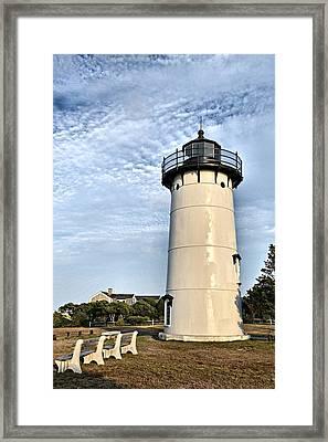 East Chop Light Framed Print by Marnie Malone