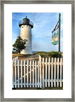 East Chop Lighthouse Framed Print by Marnie Malone