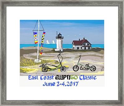 East Coast Elliptigo Classic  Opus 3 Framed Print