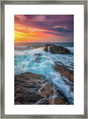 East Coast Light Flow Framed Print by Darren White