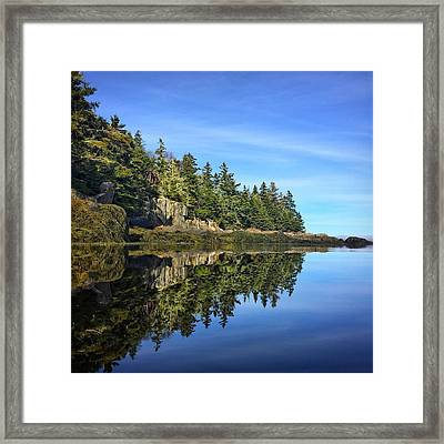 East Coast Reflection Framed Print
