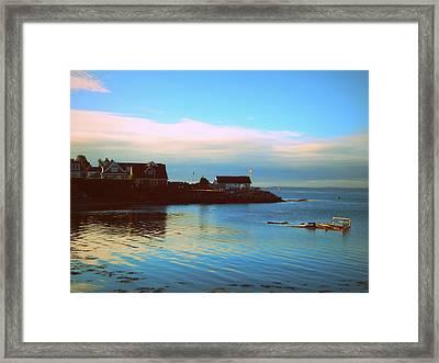 East Coast Sunrise Framed Print by Karen Cook