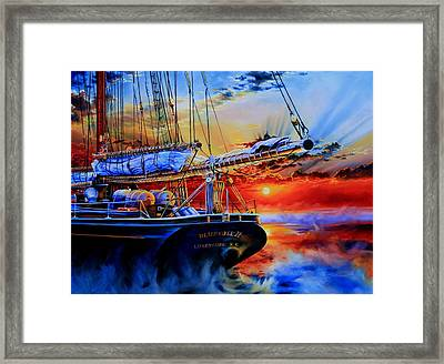 Red Sky In The Morning Framed Print by Hanne Lore Koehler