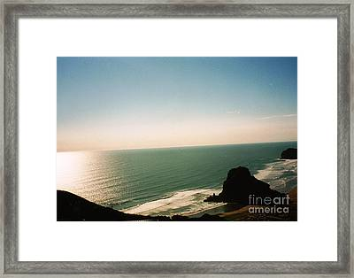East Coastline In New Zealand Framed Print