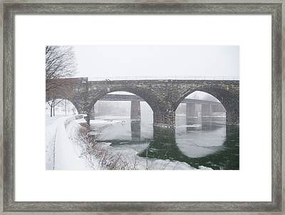 East Falls In Winter Framed Print by Bill Cannon