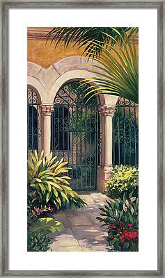 East Gate Framed Print by Laurie Hein