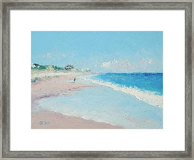 East Hampton Beach Framed Print by Jan Matson