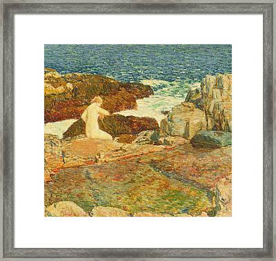East Headland Pool Framed Print by Childe Hassam