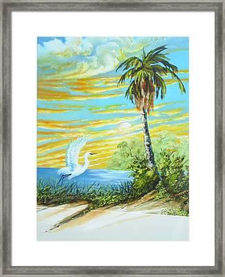 East Lake Framed Print by Dennis Vebert