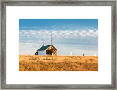 East Malta Colony School Framed Print by Todd Klassy
