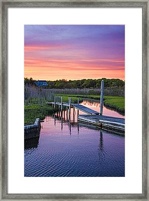 East Moriches Sunset Framed Print