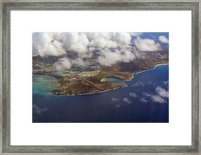East Oahu From The Air Framed Print