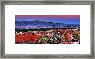 East Of Albuquerque Framed Print by David Patterson