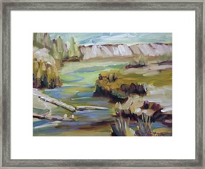 East Of Collbran Framed Print