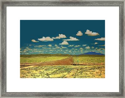 Framed Print featuring the digital art East Of Flagstaff Arizona by Kerry Beverly
