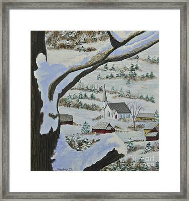 East Orange Vermont Framed Print