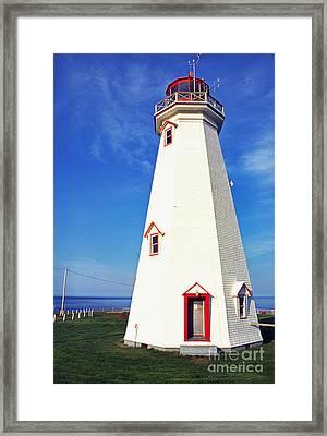 East Point Lightstation Pei Framed Print by Thomas R Fletcher
