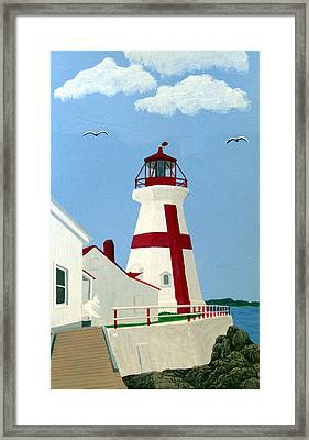 East Quoddy Head Lighthouse Framed Print by Frederic Kohli