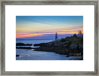 East Quoddy Lighthouse Framed Print by Jerry Fornarotto