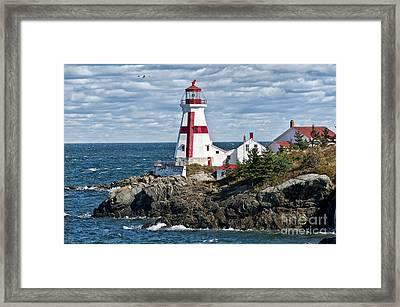 East Quoddy Lighthouse Framed Print by John Greim