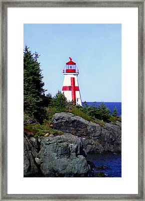 East Quoddy Lighthouse Framed Print by Martin Massari