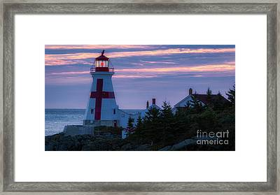 East Quoddy Lighthouse Sunrise Framed Print by Jerry Fornarotto