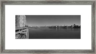 East River Panorama 2 Framed Print by Robert Ullmann