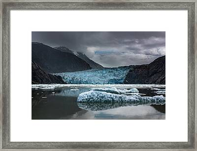 East Sawyer Glacier Framed Print