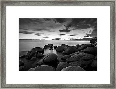 Framed Print featuring the photograph East Shore Serenity - Lake Tahoe by Brad Scott