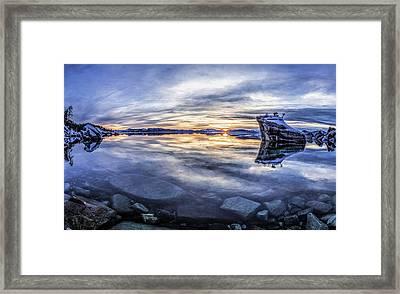 East Shore Sunset Framed Print
