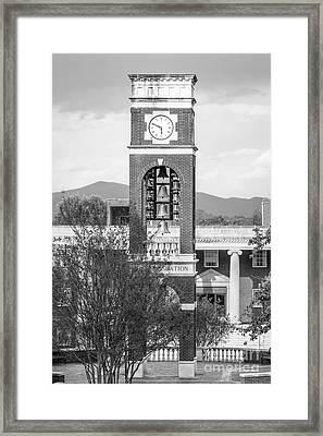 East Tennessee State University Bell Tower Framed Print