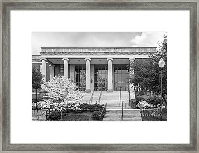 East Tennessee State University Dossett Hall Framed Print by University Icons