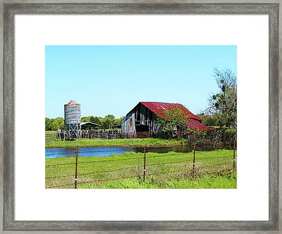 East Texas Barn Framed Print