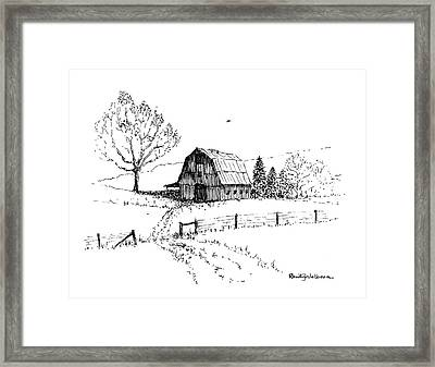 East Texas Hay Barn Framed Print