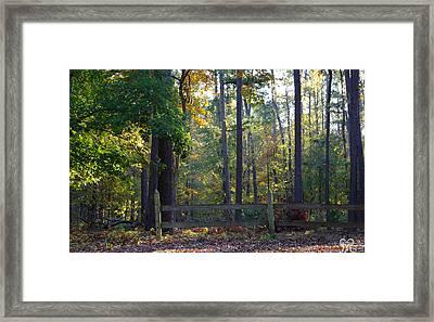 East Texas Morning Framed Print by Karen Musick