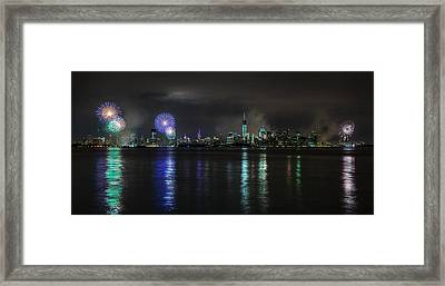 East To West River Framed Print