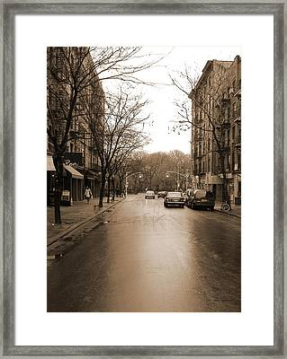 East Village In Winter Framed Print by Utopia Concepts