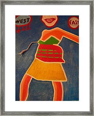 East Vs. West Framed Print by Heinrich Haasbroek