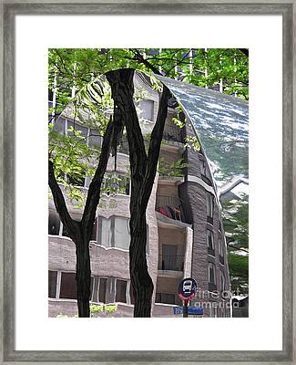Framed Print featuring the photograph East West Gate 4  by Sarah Loft