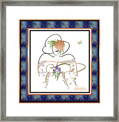 East Wind - Temple Cat Framed Print