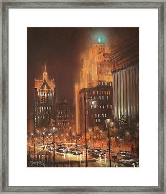 East Wisconsin Avenue  Framed Print