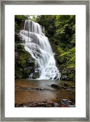Eastatoe Falls Rages Framed Print