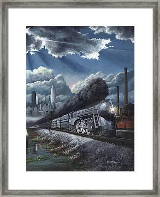 Eastbound Twentieth Century Limited Framed Print by David Mittner