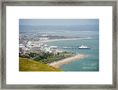 Eastbourne From Beachy Head Sussex Uk Framed Print by Donald Davis