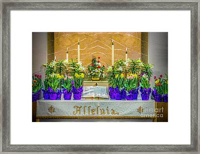 Framed Print featuring the photograph Easter Alter And Flowers by Nick Zelinsky