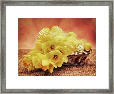 Easter Basket Framed Print by Wim Lanclus